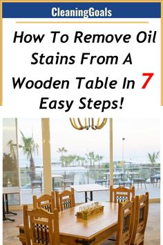 Detailed info on what items you need as well as step-by-step instructions for how to remove oil stains from a wooden table.[HOW TO] Wooden Decks, Wooden Tables, Wood Cabinet Cleaner, Remove Oil Stains, Cleaning Wood Floors, Furniture Cleaner, Helpful Hints, Handy Tips, Paint Thinner