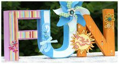 Fun In the Sun ~ by Amy McCabe using SVG Cuts 3D Letters