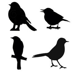 Bird Stencils for my craft table