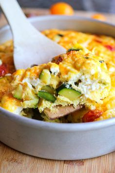 Goat Cheese, Tomato, and Zucchini Frittata + 6 Healthy Zucchini Recipes | TheRoastedRoot.net