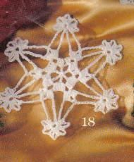 free crochet snowflake ornament pattern