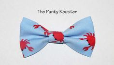 Blue Crabs Bow Tie Clip on Bow Tie Boys Bow Tie by ThePunkyRooster, $9.95