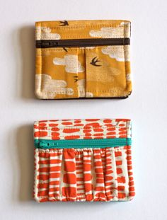 A cute wallet pattern to sew - How About Orange
