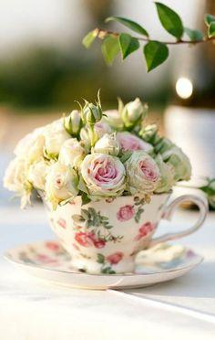 Teacup Flower Arrangement..