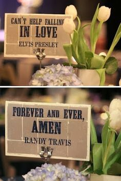 Wedding Table Naming and Numbering