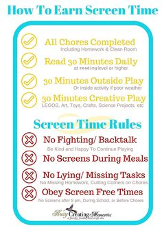 Learn How to Teach Kids Responsible Screen Time Usage. Plus enjoy a FREE Printable w/ Screen Time Rules & the FREE mobile APP to keep kids accountable Kids And Parenting, Parenting Hacks, Gentle Parenting, Peaceful Parenting, Parenting Ideas, Teaching Kids, Kids Learning, Screen Time For Kids, Time Kids