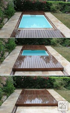 Coolest Small Pool Ideas with 9 Basic Preparation Tips Coolest little pool ideas Small Outdoor Patios, Backyard Ideas For Small Yards, Outdoor Stone, Backyard Pool Landscaping, Backyard Patio Designs, Small Backyard Landscaping, Swimming Pools Backyard, Landscaping Ideas, Small Patio