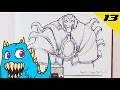 Daily Monster Sketch Journal - Day 13  #sketchmonster #easypicturestodraw   #coolstufftodraw   #howtodrawcoolthings    #funthingstodraw
