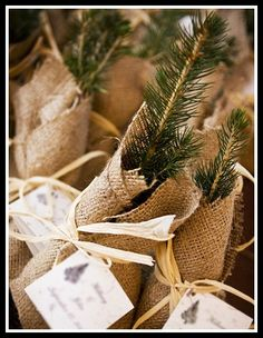 Winter Wedding Favors - Nancy Gould Photography