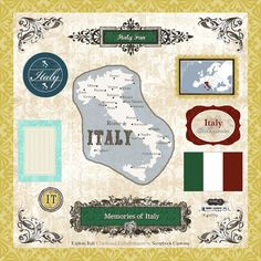 Italy - 12 x 12 Laser Cut Chipboard Pieces - Italy at Scrapbook.com