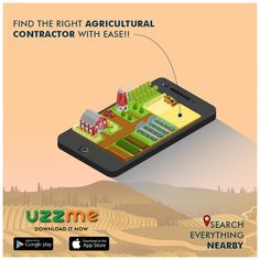 Do you have agriculture lands? Don't have time to maintain the farming land and looking for a right agriculture contractor to earn some on the land? Just install UzzMe and find the right Agricultural Contractors. Agriculture, Farming, Have Time, Everything, App, Search, Research, Searching, Apps