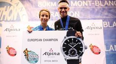 Vertical KM European Champions Caberizo & Gonon win an Alpina Horological Smartwatch in Chamonix on 26.6.2015