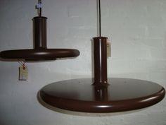 "FOG & MØRUP ""Optima"" pendants/pendler - 1975 design HANS DUE. Lamps/lamper #FogMorup #Due #Optima #lamps #lamper #Danish #dansk #design #retro #vintage. From www.TRENDYenser.com"