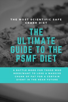 Let me first clarify the most important thing: The PSMF diet isn't a way of eating for life! It's more like a battle mode for those who need/want to lose a massive chunk of fat for a certain event in the near future, like a wedding. #crash #diet #wedding #slimming #weightloss #keto #ketogene #ketosis #fatburner #fat #loss #guide #psmf #shredding