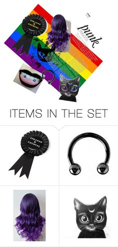 """I'm a pierced cat"" by uykaemilia on Polyvore featuring art"