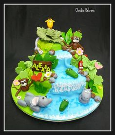 jungle cake alexa - claudia behrens by Claudia Behrens ~ Cakes, via Flickr