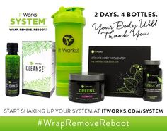 """Don't forget that while cleansing, it is important to maintain a healthy, well balanced diet—so don't forget all your """"remove and replace"""" eating habit tips ✅! It's a system so simple we can explain it in three words: #WrapRemoveReboot   Message me today to order your system. crazywrapswithapril@gmail.com"""