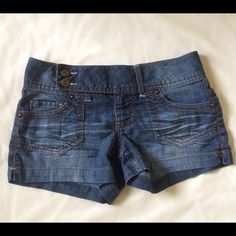 Semi High-Waisted Shorts A great addition to add to any closet! Made of a thin material, not denim. Fits true to its size, perfect condition. Please no trades, but welcome to any questions/concerns and offers  SO Shorts