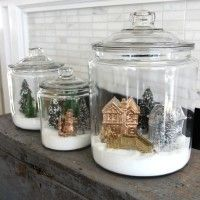 How to Make Winter Snow Globe Jars - Eclectically Vintage