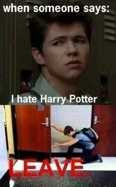 You hate harry potter?? You are dismissed!