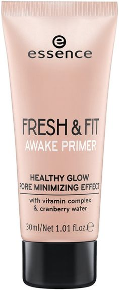 Prep your face for perfection with the Essence Fresh & Fit Awake Primer! Use alone or underneath foundation.