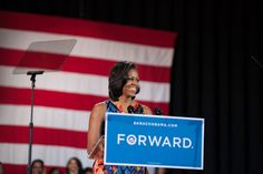 """We won Virginia by 235,000 votes [in 2008]. Now, that's wonderful. And while that might sound like a lot, think about this: When you break that number down, that's just 100 votes per precinct. Now think about that—100 votes."" - Michelle Obama in Fredericksburg"