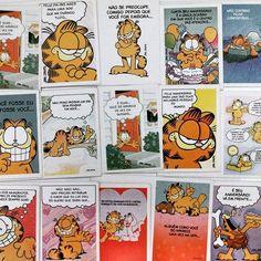 Arrumando a vida... Eu não lembrava que eu guardava esses cartões até hoje. #Garfield #Bagunça #CoisasVelhas #coleção #cartões #Guardado #Desapego #Infância #Saudades #vbatalha