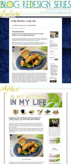 Blog Design, before and after + tips