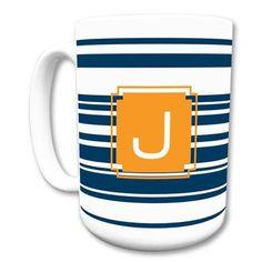 Dabney Lee Block Island Single Initial Mug Letter: N