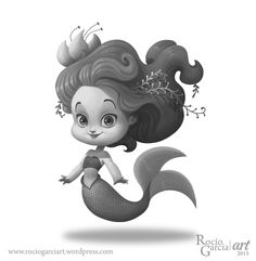 The Littest Mermaid, 2015 Rocío García (Rochi) ART https://rociogarciart.wordpress.com/