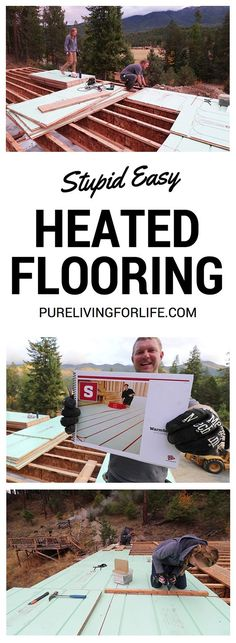 Ever wanted heated floors in your home? This is a simple guide to understanding how they work and how you can have your own! Basement House, Basement Flooring, Flooring Tiles, Basement Ideas, Radient Floor Heating, In Floor Heating, Hydronic Radiant Floor Heating, Green Building, Building A House