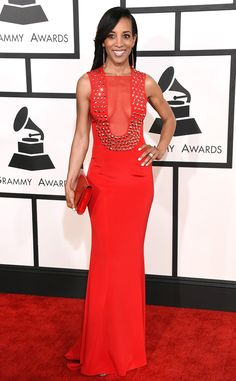Shaun Robinson from 2015 Grammy...Wait this could work. Change the red but add embellishments for that bridal look. Work with a seamstress to achieve this look