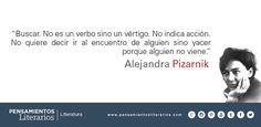 Alejandra Pizarnik. Sobre el significado de buscar.