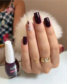 Simple Nails came super ideas Aycrlic Nails, Cute Nails, Hair And Nails, Stylish Nails, Trendy Nails, Acrylic Nail Designs, Nail Art Designs, Beautiful Nail Designs, Square Nails