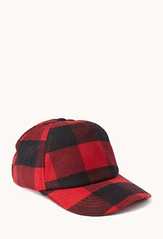 Grunge Plaid Baseball Cap | Forever 21. I am a baseball hat kind of girl. This one with the black and red plaid will make  me feel like I actually put in some effort. 8.99.