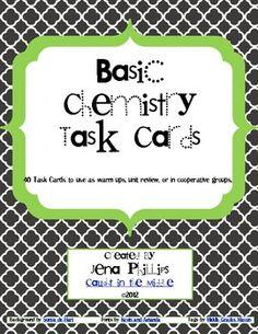 Basic Chemistry Task Cards
