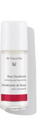 Rose Deodorant - Free of antiperspirants, this quick-drying formula absorbs odor without clogging pores. Botanical extracts deodorize without irritation. Pure essential oils provide a mild, clean scent.