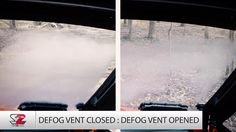 """Foggy window obscuring your view? Turn the lever on Seizmik's Versa Vent windshield to """"Defog"""" mode and watch it clear up. Check out this quick clip to see it in action."""