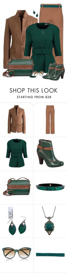 """set"" by vesper1977 ❤ liked on Polyvore featuring J.Crew, Chloé, Jil Sander, Miz Mooz, ESPRIT, Alexis Bittar, Michael Valitutti and D.Exterior"