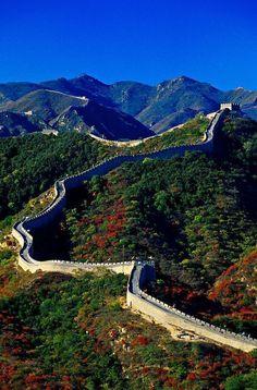The Great Wall Of China At Badaling China