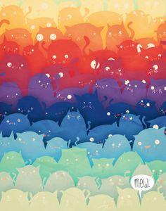 rainbow cats ★ iPhone wallpaper