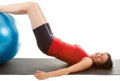 Ćwiczenie z piłką Yoga Fitness, Health Fitness, Lets Do It, Summer Body, Squat, Physique, Health Tips, Exercise, Gym