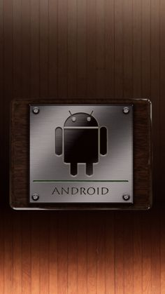 Android Logo Metal System Wallpaper for Mobile 720x1280