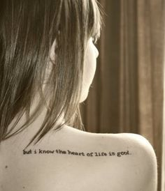 John Mayer lyric tattoo. / Such a lovely reminder to have.