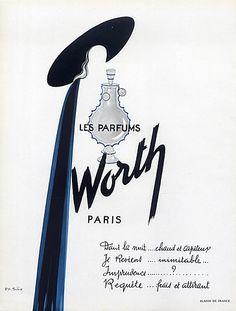 Worth (Perfumes) 1950 Sibia