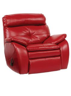 shop for a bristol bay red blended leather rocker recliner at rooms to go find chairs that will look great in your home and complement the