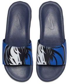 Nike Men's Dallas Mavericks Benassi Solarsoft Slides - Blue 11
