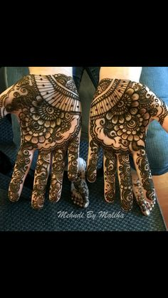 Indian/Arabic palms bridal Mehndi