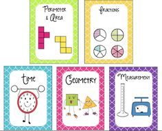 FREE page dividers or notebook covers for math concepts!