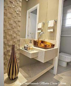 Papel de parede, espelhos e pendentes para embelezar! O lavabo por ser o menor banheiro da casa, e geralmente fica ao lado da sala, ...